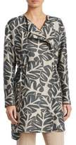 Akris Punto Tropical Leaves Jacquard Coat