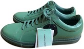 Comme des Garcons Green Leather Trainers