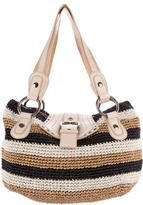Dolce & Gabbana Striped Straw Tote
