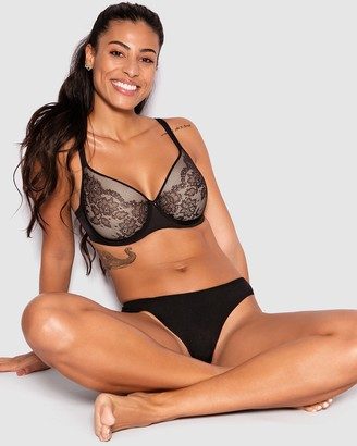 Bras N Things Pure Body Lace Full Cup Bra