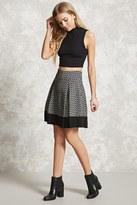 Forever 21 FOREVER 21+ Ornate Print Pleated Skirt