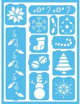 Americana Holiday Cheer Self-Adhesive Stencil