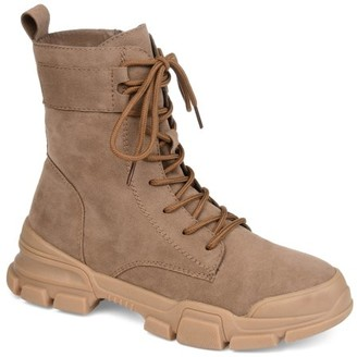 Brinley Co. Womens Lace-up Accent Combat Boot