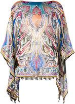 Etro printed tunic - women - Silk/Metallic Fibre - One Size