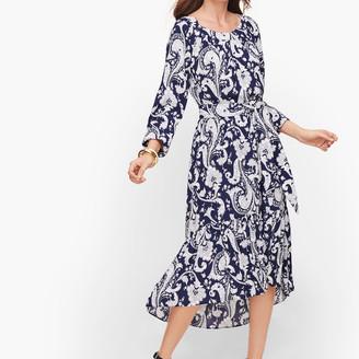 Talbots Flounce Hem Midi Dress