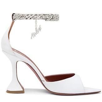 Amina Muaddi x AWGE Flacko Crystal-Embellished Chain Leather Sandals