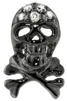 Sydney Evan Blackened Skull Stud Earring