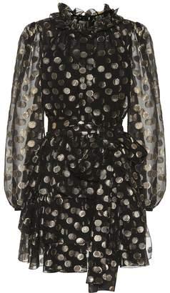 Dolce & Gabbana Dotted fil coupe minidress