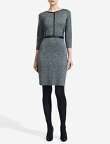 The Limited Leather-Trimmed Sweater Dress