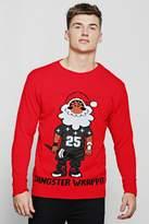 Gangster Wrapper Knitted Christmas Jumper