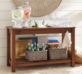 Pottery Barn Chatham Ultimate Bar Console Table - Dark Honey