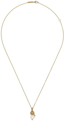 Stephen Webster 18kt yellow gold Capricorn Astro Ball pearl pendant necklace