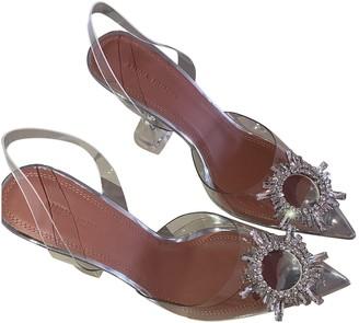 Amina Muaddi Begum Anthracite Plastic Heels