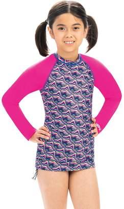 Dolfin Uglies Girls Candy Mountain Print Long-Sleeve Rash Guard