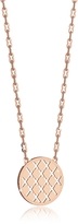 Rebecca Melrose Rose Gold Over Bronze Necklace w/Round Charm