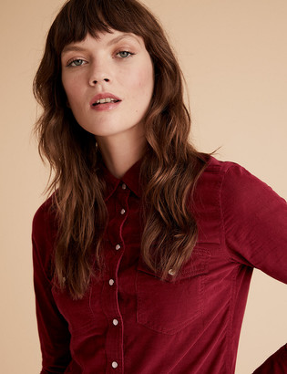 Marks and Spencer Cord Long Sleeve Shirt