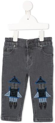 Stella Mccartney Kids Rocket Applique Jeans