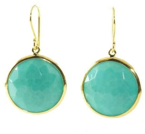 Ippolita 18K Yellow Gold Turquoise Lollipop Rock Candy Drop Dangle Earrings