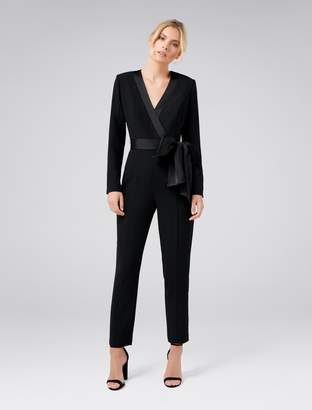 Ever New Sue Satin Bow Jumpsuit
