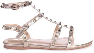 Linzi VIOLET - Gold All Over Studded Gladiator Sandal