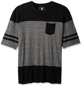 Southpole Men's Big and Tall Short Sleeve Marled Cut and Sewn T-Shirt with Pocket