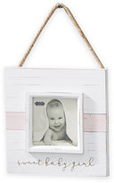 Mud Pie Sweet Baby 4-Inch x 4-Inch Wood Hanger Picture Frame