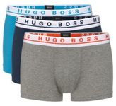 Hugo Boss Boxer 3P FN Solid Cotton Trunks, 3-Pack M Patterned