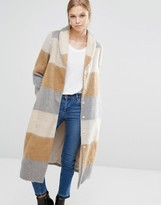 Vila Brushed Check Maxi Coat
