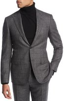 Canali Windowpane Wool Two-Piece Suit