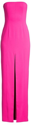 Jay Godfrey Martell Neon Strapless Vented Column Gown