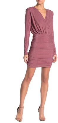Do & Be Metallic Long Sleeve Mini Dress