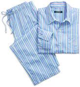 Ralph Lauren Petite Striped Sateen Pajama Set