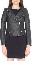 Claudie Pierlot Coconut leather biker jacket