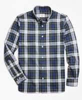 Brooks Brothers Gordon Dress Tartan Cotton Flannel Sport Shirt