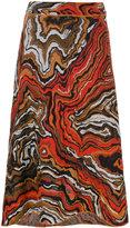 M Missoni printed high waisted skirt