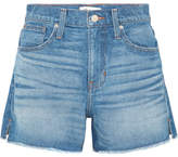 Madewell The Vintage Perfect Frayed Denim Shorts - Mid denim