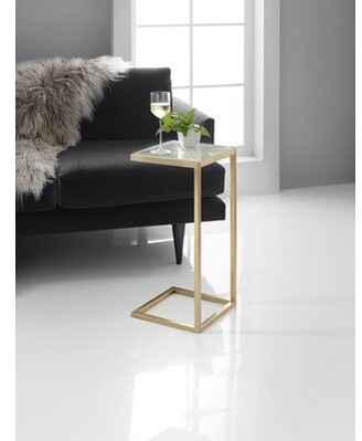 Hooker Furniture Melange Glass Top C Table End Table