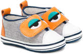 Fendi monster eye touch-strap sneakers