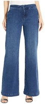 NYDJ Wide Leg Trouser Jeans with Side Seam Welt Pockets in Clean Habana (Clean Habana) Women's Jeans
