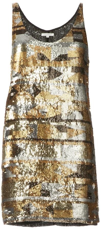 Faith Connexion metallic embellished dress