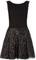 Dorothy Perkins Black sparkle skirt skater