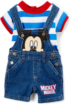 Children's Apparel Network Blue Mickey Mouse Shortalls & Tee - Infant