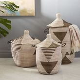 west elm Graphic Printed Baskets - Black/White