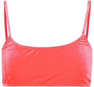 Reina Olga Stella velour bikini top