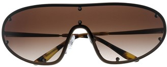 Prada Collection wraparound sunglasses