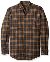 Arrow Men's Big and Tall Long Sleeve Hunting Plaid Flannel Shirt