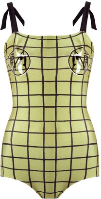 Adriana Degreas Grid Swimsuit