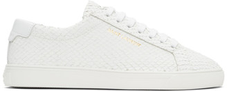 Saint Laurent White Python Andy Sneakers
