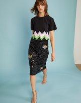 Cynthia Rowley Risky Business Sequin Pencil Skirt