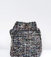 Reclaimed Vintage Inspired Lurex Tweed Mini Backpack
